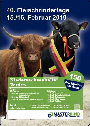 Niedersächsiche Fleischrindertage 2019